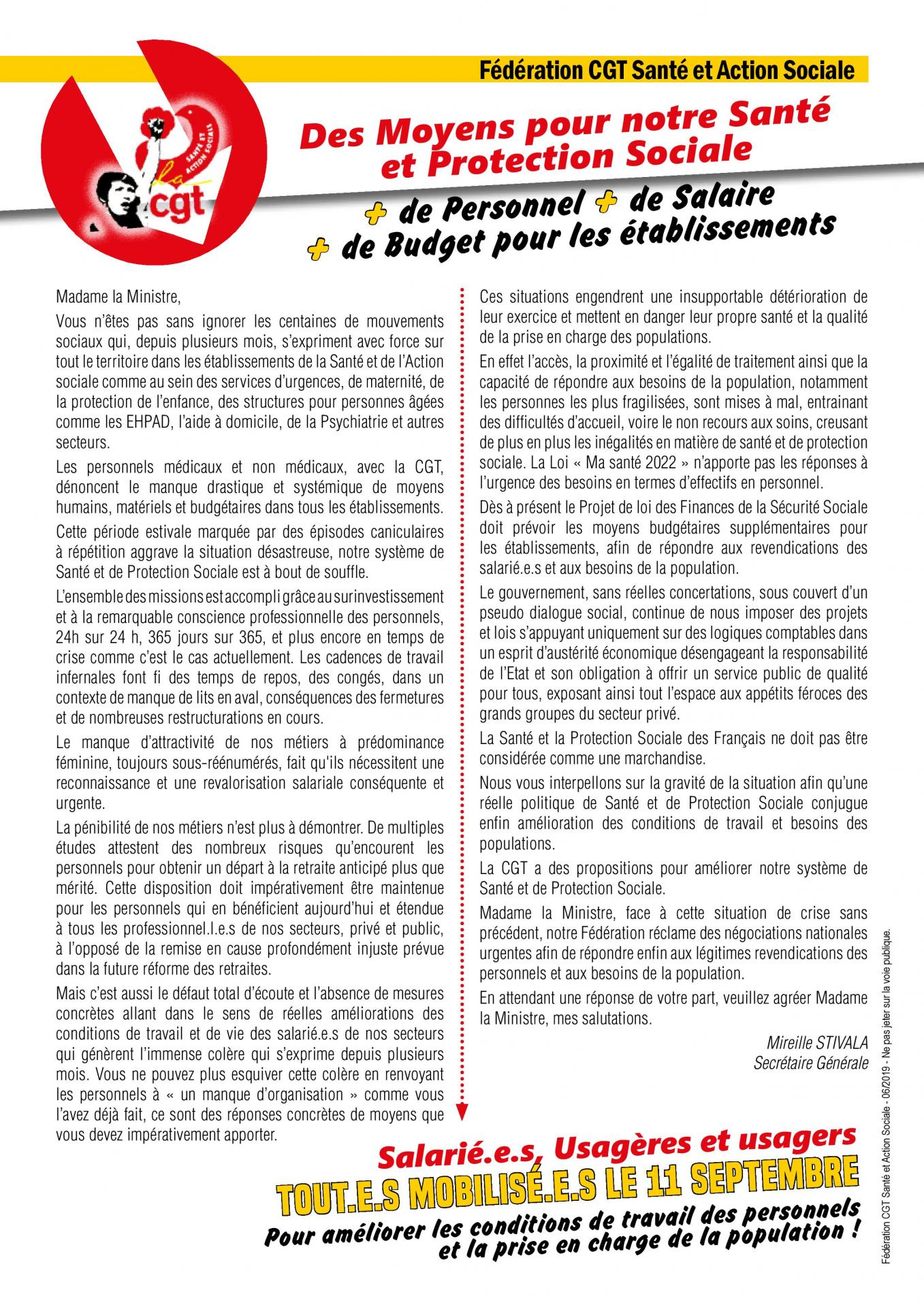 Tract courrier ministre 11 septembre 2019 page 001